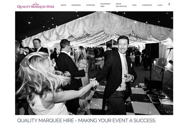 Quality Marquee Hire, website